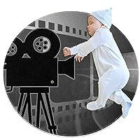 エリアラグ軽量 映画上映 フロアマットソフトカーペット直径31.5インチホームリビングダイニングルームベッドルーム