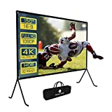 Projector Screen, Multifunction Projector Screen With Stand, Double SidedOutdoor Projector Screen, HDPortable Movie Screen 150 Inch