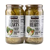 Kirkland Signature Artichoke Hearts Sliced Halves & quarters Marinated in oil Heart Healthy