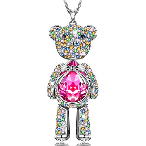 Teddy Bear Necklace for Girls