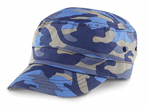 Result - Casquette Army Camo Urban Cap RC59- Mixte Adulte - Coloris Bleu Camouflage