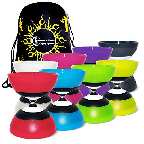 Unbekannt Sundia Evo '5' Bearing Axle Diabolo + Reisetasche! Hoch Leistungs Spinnen Diabolo für Profis! ** Keine Sticks enthalten ** (Schwarz)