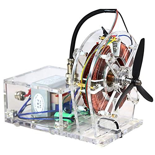 BJH Modelo de Motor sin escobillas, Kit de Juguete de Modelo Educativo - Modelo de Motor asíncrono de CA, Kit de Regalo de Juguete de Ciencia para niños