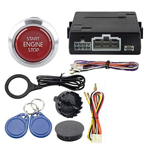 GLLXPZ Sistema de Alarma de Coche RFID con botón de Arranque del Motor, Arranque, Parada, Sistema de Marcha sin Llave DC12V