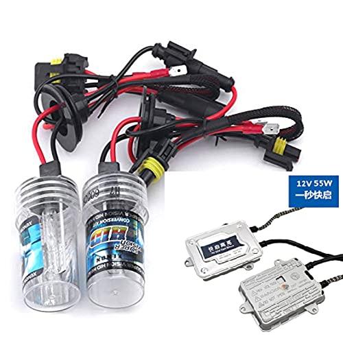 CS Glare Car HID 55W 6000K White Xenon High Power Fog Lamp Conversion Kit (H8/H11/H16-6000K/W55)