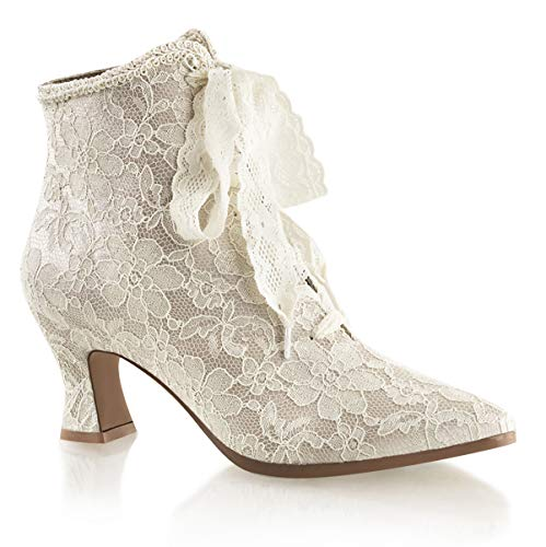 Higher-Heels Fabulicious Ankle-Booties Spitze Victorian-30 Champagne Gr.39