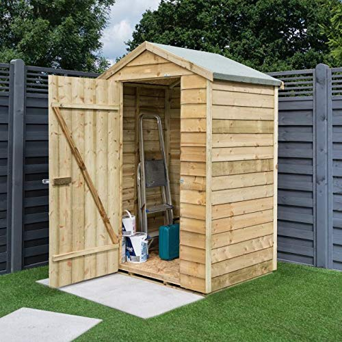 Rowlinson Overlap 4 x 3ft Garden Storage Shed - Self Assembly