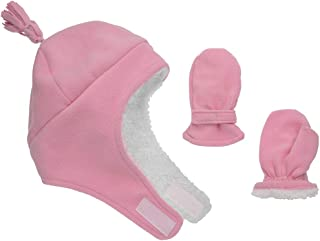 Baby Toddler Hat & Mittens - Baby Boy & Girl Winter Fleece and Sherpa Kid Mitten
