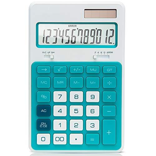 HO-TBO rekenmachine, desktop computer instelbare kijkhoek vouwplaat vaste kunststof sleutel rekenmachine voor kantoor ideaal gereedschap voor GRAF