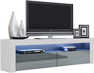 MEBLE FURNITURE & RUGS Milano Classic Modern TV Stand 63