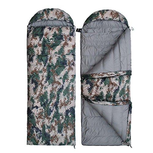 Enveloppe camouflage sac de couchage Goose down camping en plein air adulte garder au chaud équipement 1000g-2500g , 3 , 2500g