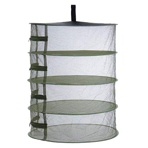 Generic Brands Leurres boîte Crochets Filet de pêche 3yue Grand 4 Niveau Shelf hydroponique Hanging Culture d'herbes à Sec étendoir Net