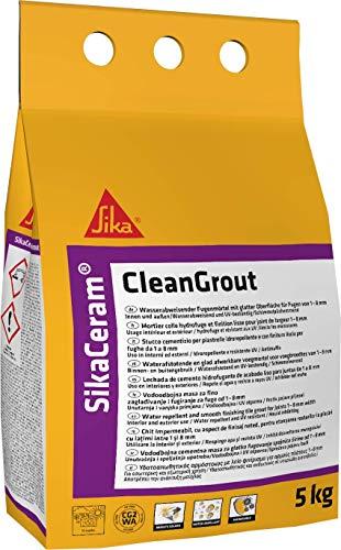 SikaCeram CleanGrout, Lechada de cemento para relleno de juntas de 1 a 8 mm (CG2), 5kg, Negro