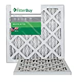 FilterBuy 18x18x1 MERV 8 Pleated AC Furnace Air Filter, (Pack of 2 Filters), 18x18x1 – Silver