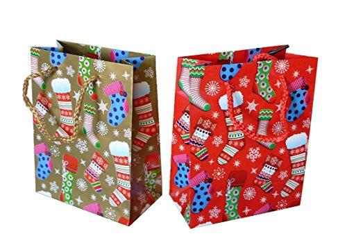 Unbekannt 24 Stück Geschenktüte (Strumpf 11 x 16 cm)