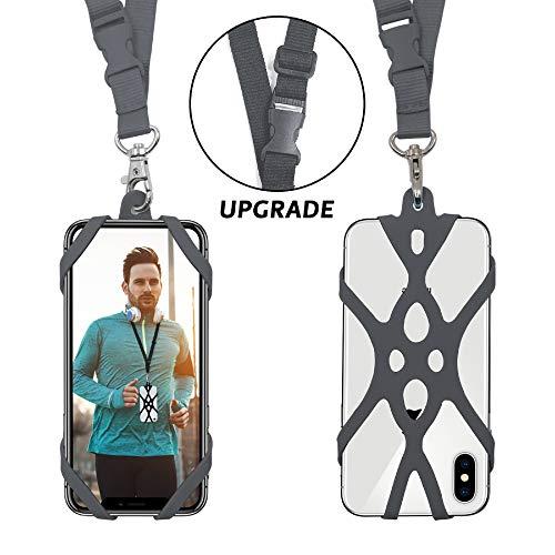 ROCONTRIP Universal Lanyard teléfono Celular Correa para el Cuello Cubierta de la Caja con Ranura para Tarjetas de identificación para iPhone 6 6S 7 Plus 8 Samsung Galaxy S7 Huawei Xiaomi