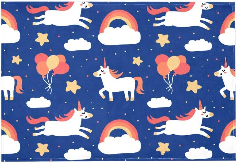 buen precio Unicorn Design azul Z050 alfombras alfombras alfombras de Gran Superficie, alfombras Infantiles sucias para Habitaciónes, dormitorios, Alfombrillas Infantiles 203x147cm 80x58in  tiempo libre
