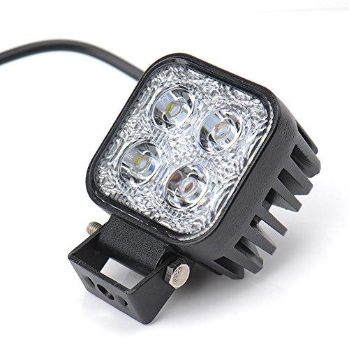 Himanjie Lampada a LED 12W 18W fanale posteriore per veicoli faro da lavoro luce bianca fredda impermeabile IP67 (12W)