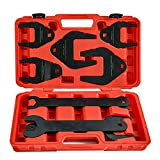 Professional 10pc Fan Clutch Removal Tool Installer Fan Clutch Wrench Tools Set Compatible for Ford, GM, and Chrysler Vehicles-Durable Repair Spanner Kit