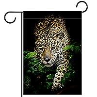 ホームガーデンフラッグ両面春夏庭屋外装飾 28x40inch,ジャガーの肖像画