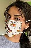 Handmade Behelfsmaske   Gesichtsmaske Mundmaske im Alpaka Design Türkis-bunt   Handmade by...