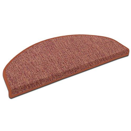 casa pura Stufenmatten London | viele Varianten | Treppenteppich mit pflegeleichtem Schlingenflor | kombinierbar mit passenden Läufern | Terra - Halbrund - 1 Stück