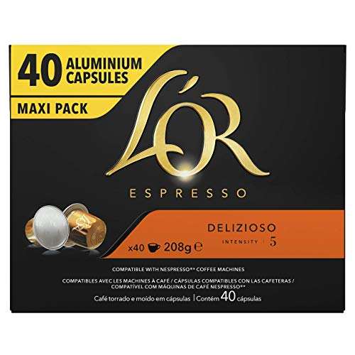 L'Or Espresso Café - 40 Capsules Delizioso Intensité...