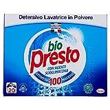 Bio Presto Detersivo Lavatrice in Polvere 20 Misurini, 1100g...