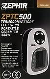 Caldobagno Termoconvettore Mini ceramico elettrico portatile 500w spina girevole Timer Zephir