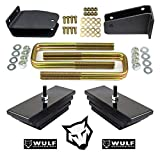 WULF 2' Front Leveling Lift Kit with Axle Pivot Drop Brackets compatible with 1980-1998 Ford F250 4X4