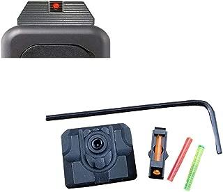 DMAIP Red Green Fiber Optic Front Sight/Rear Combat Glock Sight v3 Black for Glock Standard Models Tactical Hunting