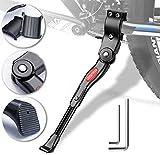 BukyTom Fahrradständer für 24-28 Zoll, Dauerhaft Höhenverstellbarer Fahrrad Ständer Aluminiumlegierung Bike Stand Fit für Reifen Mountainbike Rennrad Erwachsenenrad Sportfahrrad Kinderfahrrad (Black)