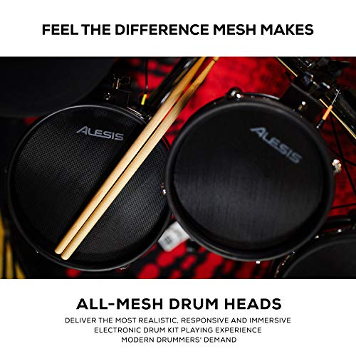 Alesis Command Mesh Kit   Electronic Drum Kit with Mesh Heads, Chrome Rack &...