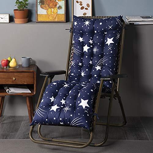 ZBBN Cojines para tumbonas, cojín para sillón con Estampado de Estrellas, cojín portátil para jardín, Patio, Acolchado Grueso, Asiento de Banco reclinable y Relajante (sin Silla)