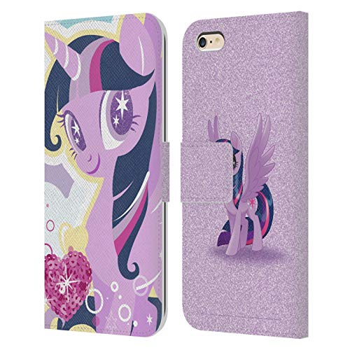Head Case Designs Officially Licensed My Little Pony Twilight Sparkle Sugar Crush Leather Book Wallet Case Cover Compatible with Apple iPhone 6 Plus/iPhone 6s Plus