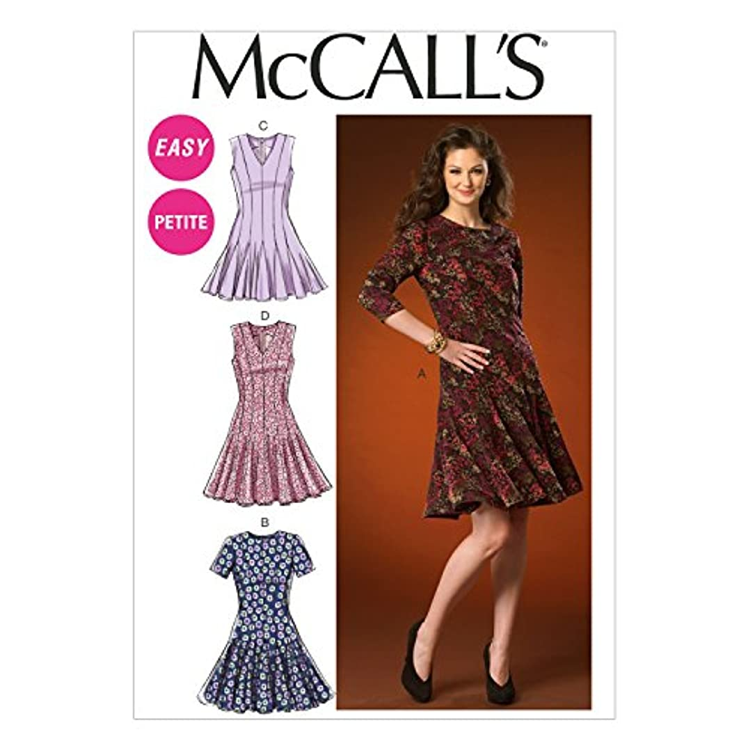 McCall's Patterns M7015 Misses'/Miss Petite Dresses, A5 (6-8-10-12-14)