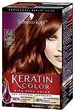 Schwarzkopf Keratin Color Permanent Hair Color Cream, 5.6 Warm...