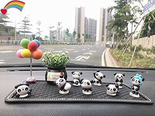 VFDZ 1 Decoración del Coche de múltiples Combinaciones de resinas Mini Lindo Pequeño Panda Suministros muñeca for el Coche del Tablero de Instrumentos Adornos Inicio de habitación (Color Name : M)