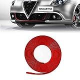 4R Quattroerre.it 31861 Profilo Rosso Adesivo per Dam Paraurti Anteriore Alfa Giulietta con Biadesivo 3M APT