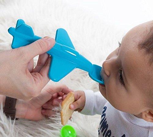 Neon Kids 160008601201086-BLUE - Cuchara para bebé en formato de avión, color azul