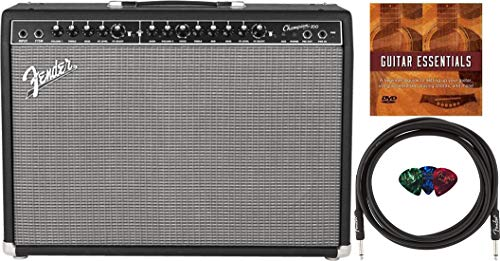 Fender Champion 100 2x12-Inch Combo Amplifier Bundle with Instrument Cable, Fender Picks, and Austin Bazaar Instructional DVD