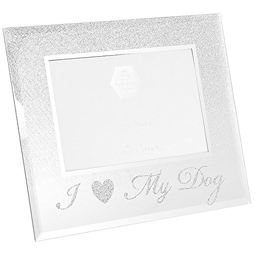Leonardo I Love My Dog portafoto glitter argento Pet Gift