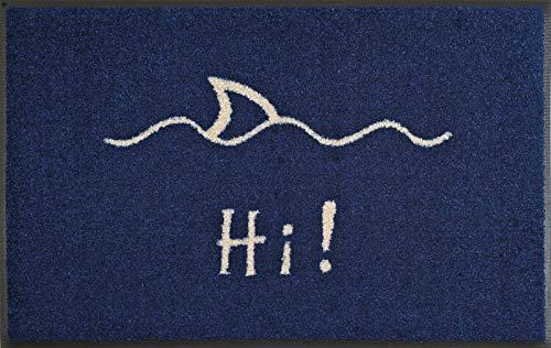 wash+dry Fußmatte Hi, 50x75 cm, innen und außen, waschbar, blau
