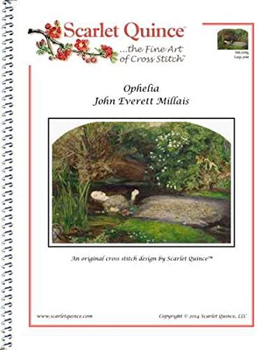 Scarlet Quince MIL008lg Ophelia Outlet sale feature by Millais Counted Everett John Fixed price for sale