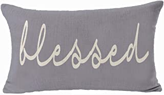 Andreannie Blessed Funny Nordic Warm Inspirational Quote Cotton Linen Throw Lumbar Waist Pillow Case Personalized Customiz...