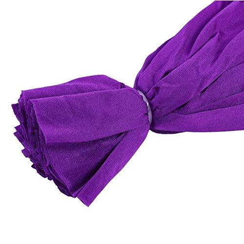 Zwindy Columpio de Hamaca de Yoga elástico Duradero, Hamaca de Yoga Segura de Fibra de Poliamida 2.8x1m / 9.2x3.3ft, Principiantes para Profesionales(Dark Purple)