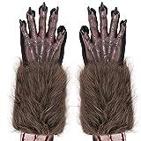 Skeleteen Werewolf Hand Costume Gloves - Brown Hairy...