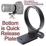 iShoot - Anello di supporto per treppiede Nikon AF 80-400mm f/4.5-5.6D ED VR, per obiettivo Nikon AF-S 300 mm f/4D IF-ED fotocamera fotocamera