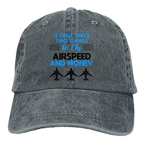 Airspeed y Money Hats, Gorra de béisbol ajustable de vaquero lavable a la moda, apta para exteriores