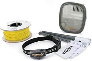 PetSafe Elite Little Dog In-Ground Fence and Waterproof Receiver Collar, Tone and Static Correction, for Pets 5 lb. and Up